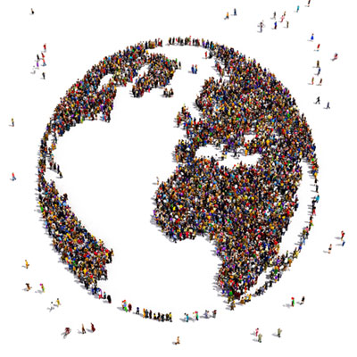 globe image with people